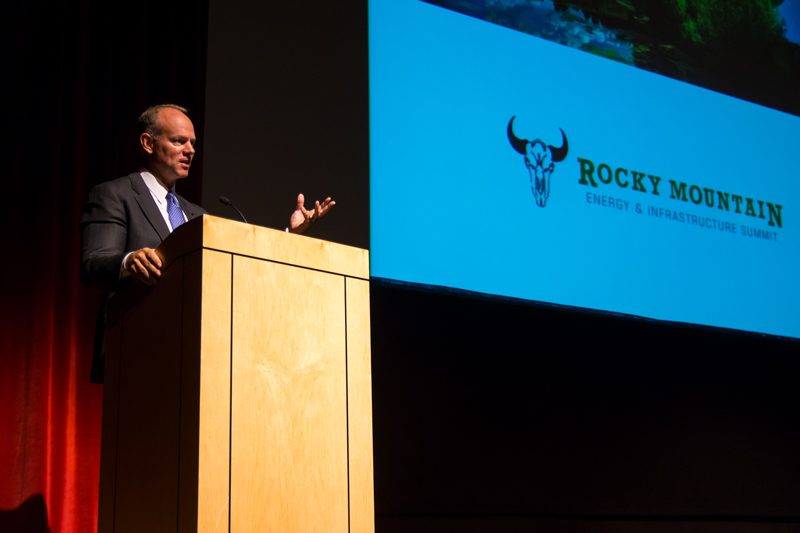 Wyoming Governor Matt Mead welcomes the attendees to the state and event