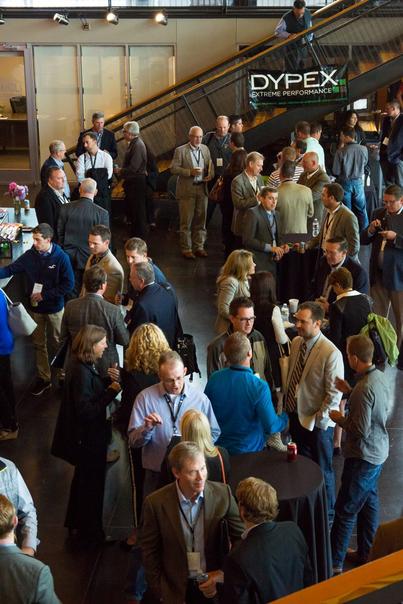 An indoor shot of a break at the Rocky Mountain Energy and Infrastructure Summit
