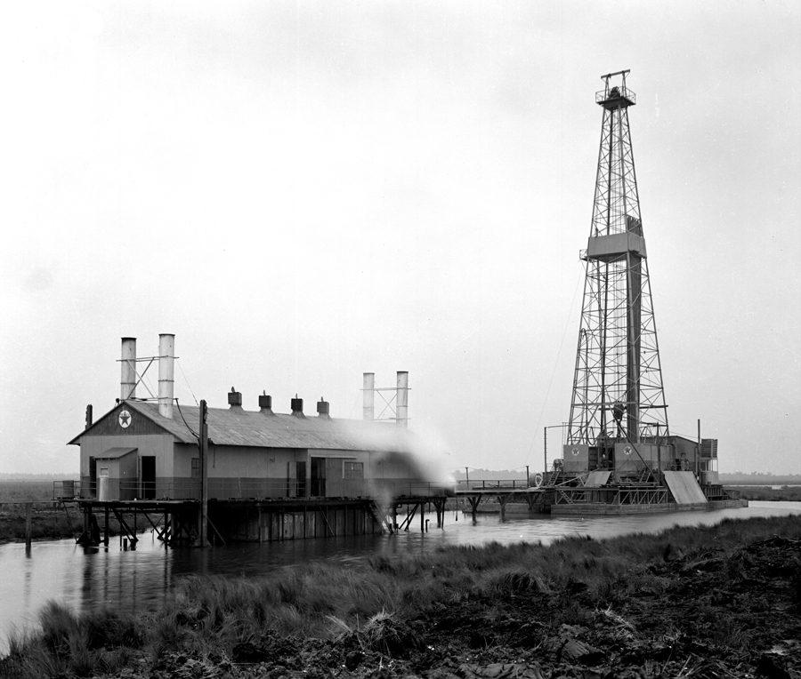 Texas Saltwater Marsh - Texaco Rig