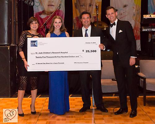Saint Jude donation.  Photo Courtesy of YPE