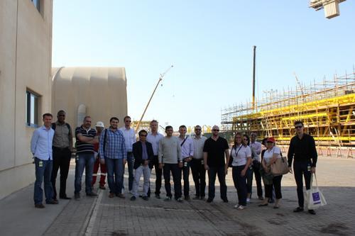 YPE Abu Dhabi site visit.  Photo Courtesy of YPE