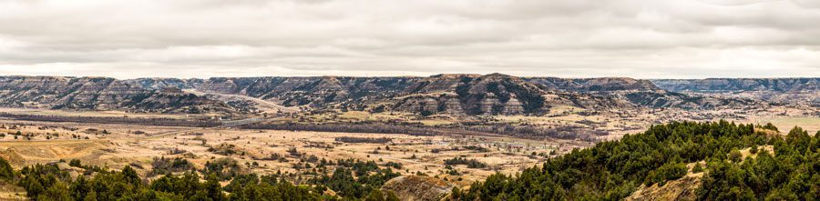 Missouri River in Theodore Roosevelt National Park, 15 miles south of Watford City.