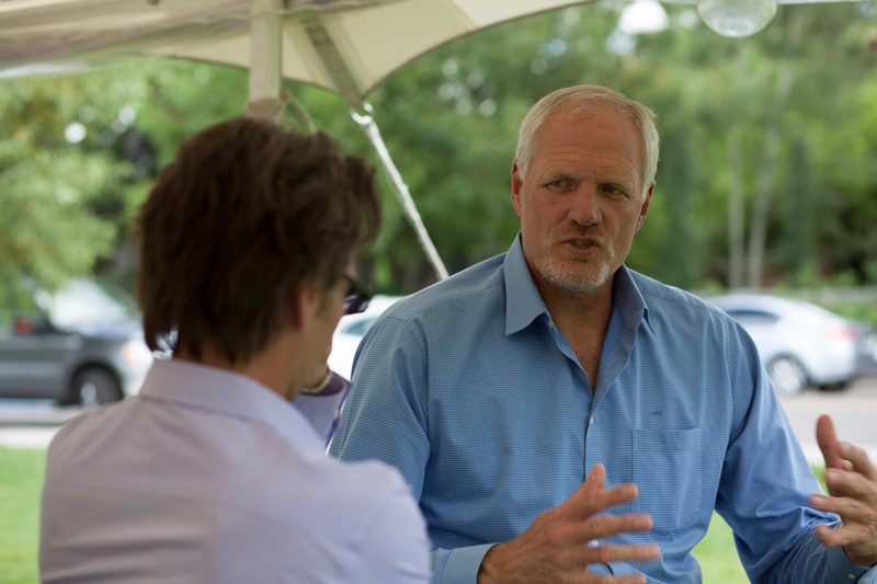 Multimedia journalist Jason Spiess interviews former NBA All-star and Utah Jazz center Mark Eaton.  Eaton currently speaks to energy companies about working as a team in corporate America. Eaton is a common speaker in the oil and gas circuit.