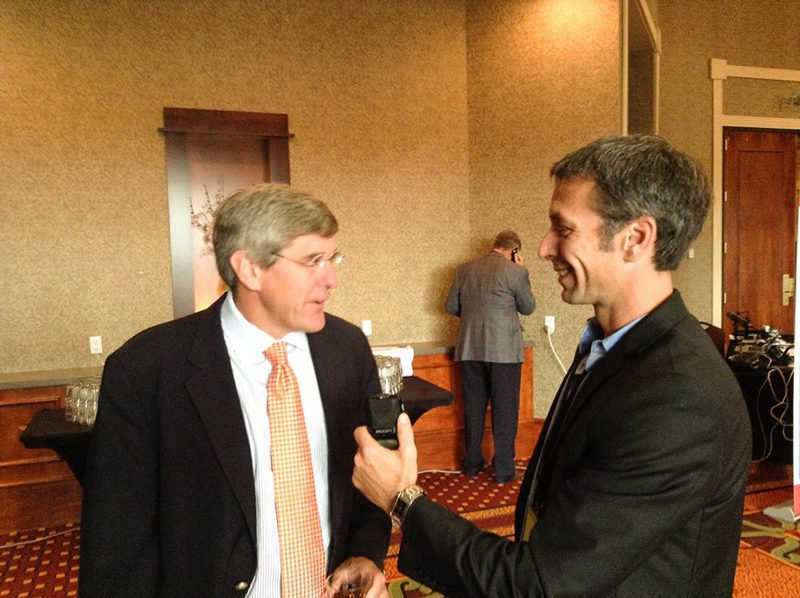 Multimedia journalist Jason Spiess interviews Stephen Moore, chief economist, Heritage Foundation.  Moore is also a regular commentary for Fox News.  Moore is known for advocating free-market policies and supply-side economics.