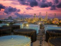 32584168 - oil refinery at twilight sky