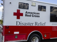 60815033 - indianapolis - circa august 2016: american red cross disaster relief van. the american national red cross provides emergency assistance and disaster relief i
