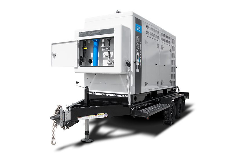 HIPOWER Systems 95 T6 portable natural gas generator. Courtesy of HIPOWER SYSTEMS