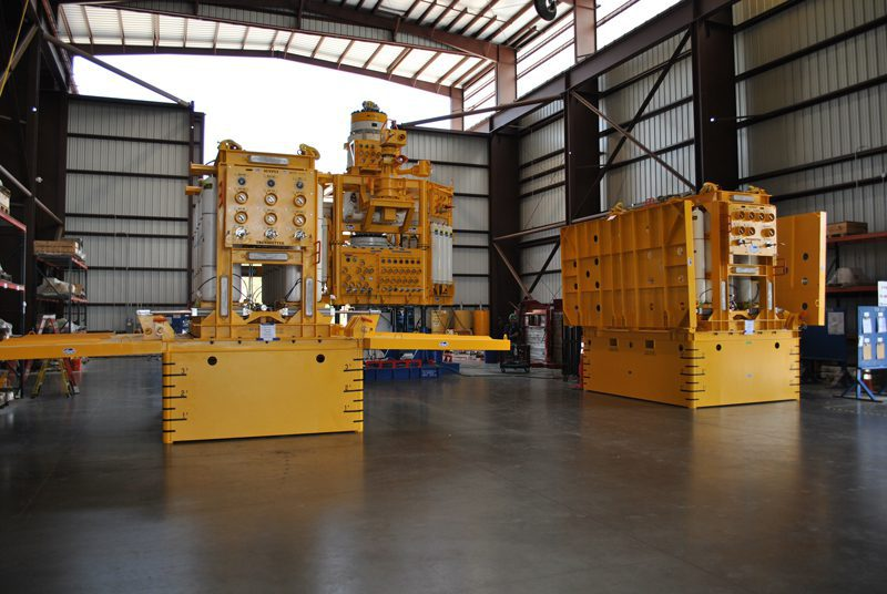 Subsea accumulator modules at Trendsetter's facilities in Houston. Courtesy of Trendsetter.