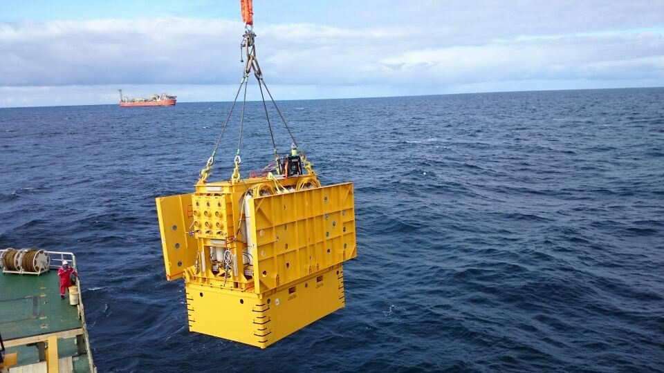 Trendsetter's subsea accumulator module. Courtesy of Trendsetter.