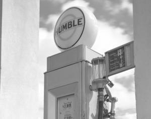 Humble Oil Gas Pump 1930s