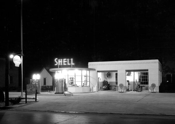 Shell Gas Station 1930s