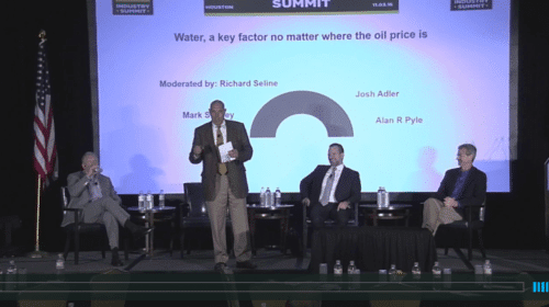 Water, a key factor no matter where the oil price is