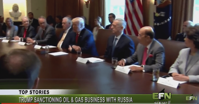 Trump Sanctioning Oil And Gas Business With Russia