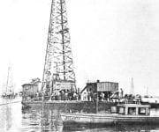Oil Rig On Barge, Caddo Lake, Louisiana, 1911