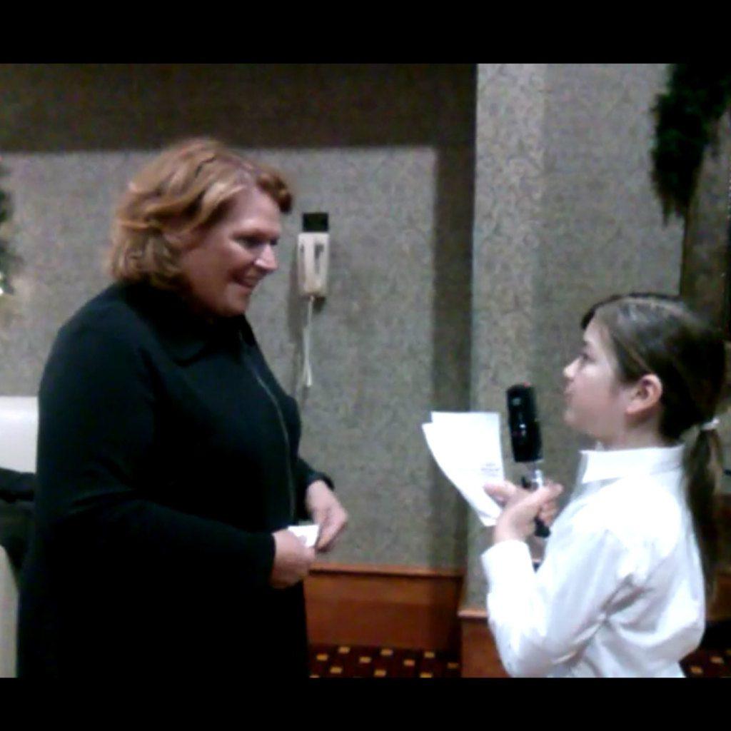 Otis interviewing U.S. Senator Heidi Heitkamp