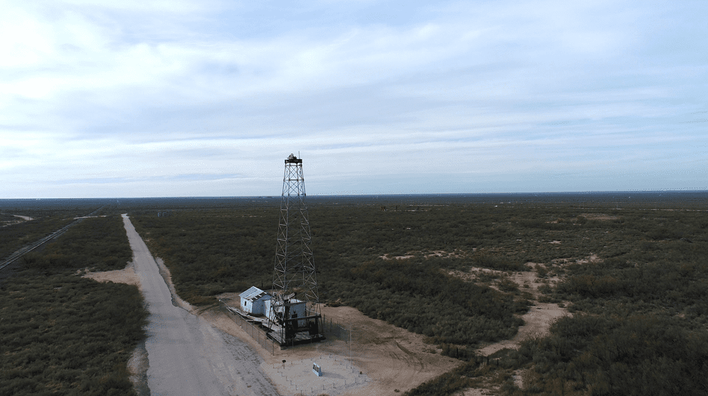 Santa Rita #1 Well from OU drone view