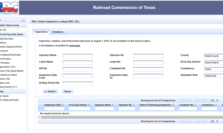 Texas Railroad Commission Rings in New Year with OIL Database