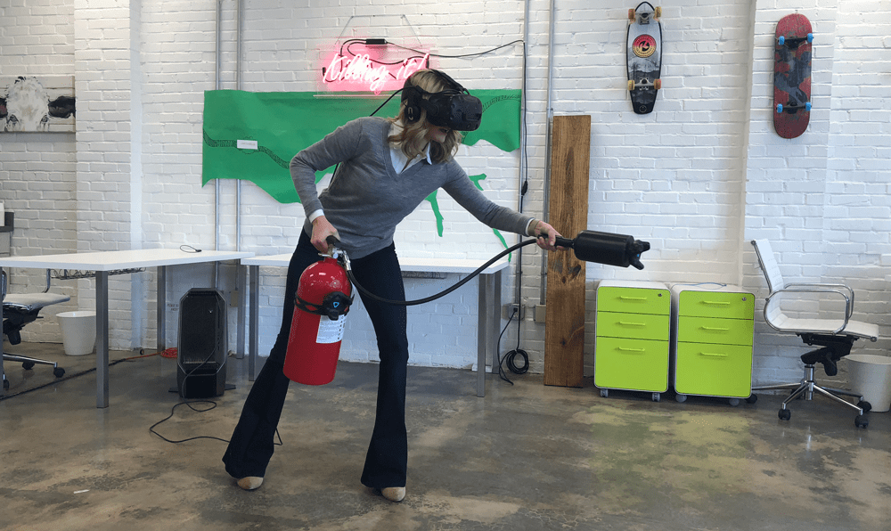 A Real user fighting a Virtual fire