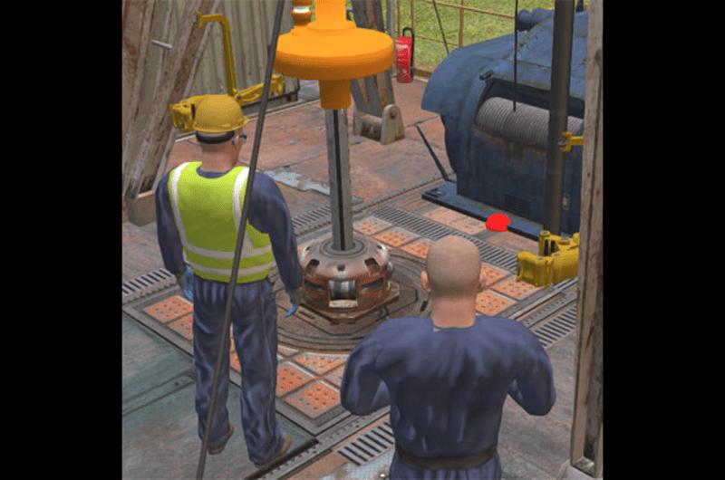Qbit VR Drilling Platform Training Situations and Qbit VR Training – Photo courtesy of Qbit Technologies