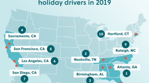 TOP 10 CITIES WITH THE 'SCROOGIEST' HOLIDAY DRIVERS