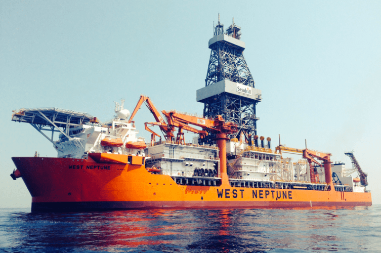 The 'West Neptune' 6th generation drillship was the first Seadrill asset to be outfitted with the Vision IQ safety system. Photos courtesy of Seadrill