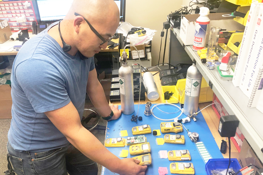 John Saechao is a gas monitor & warranty expert who calibrates and services gas monitors in-house at PK Safety.