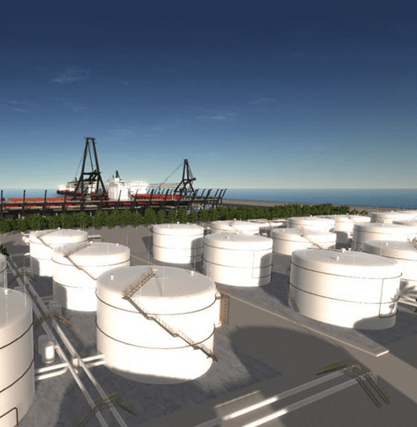 Unigine VR Refinery Model. Photo courtesy of Unigine