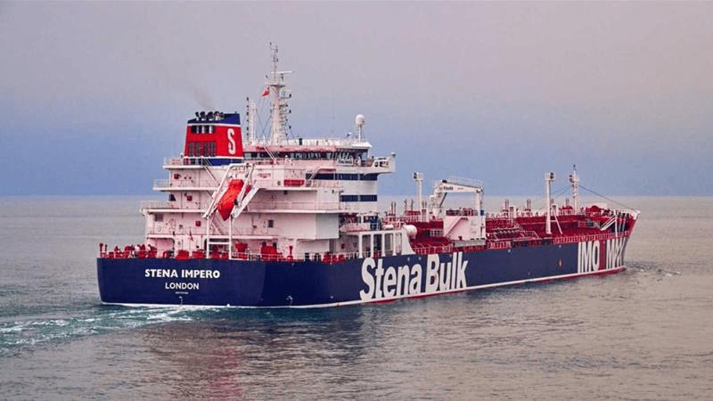 British oil tanker in Strait of Hormuz. Photo courtesy of Aljazeera