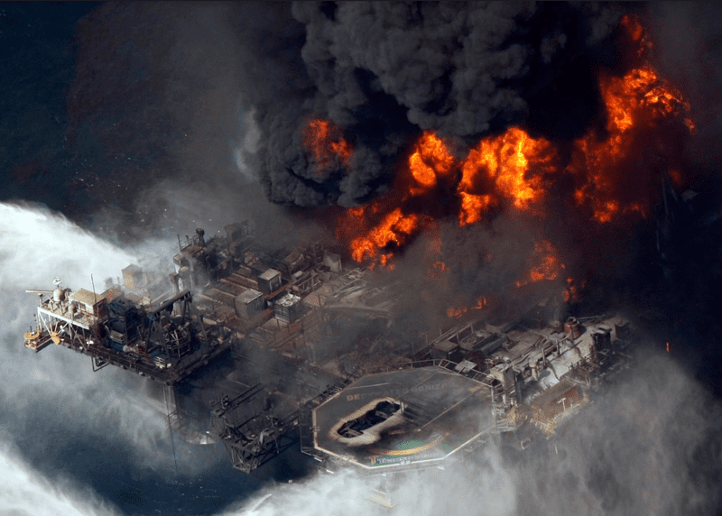 Deepwater horizon platform accident, April 20, 2010. Photo courtesy of The New York Times