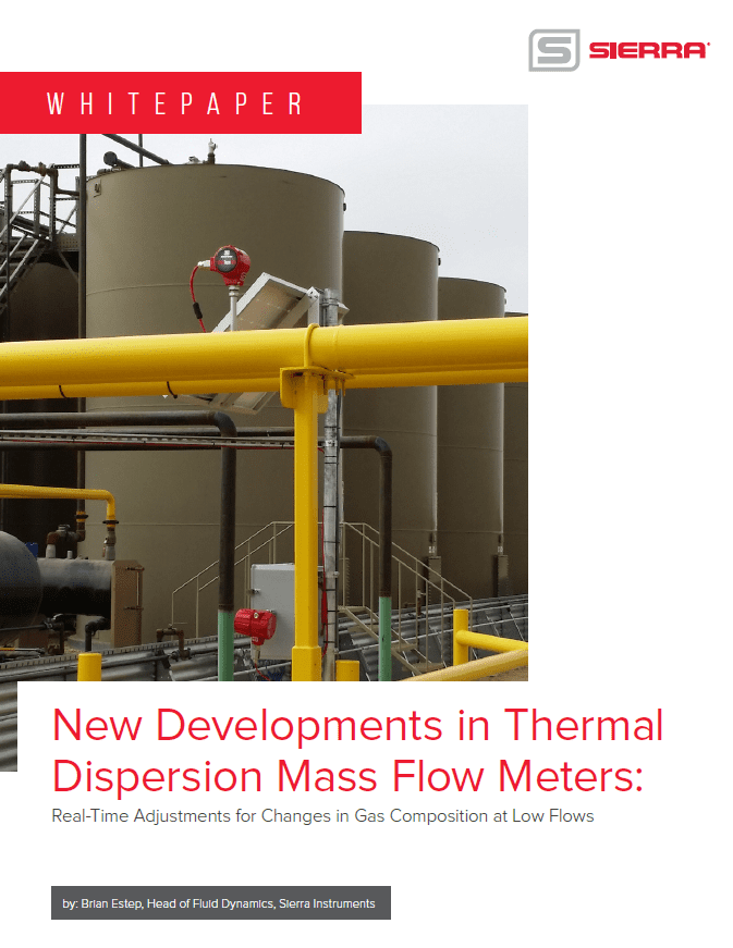 New Developments in Thermal Dispersion Mass Flow Meters Real-Time Adjustments for Chagnes in Gas Composition at Low Flows