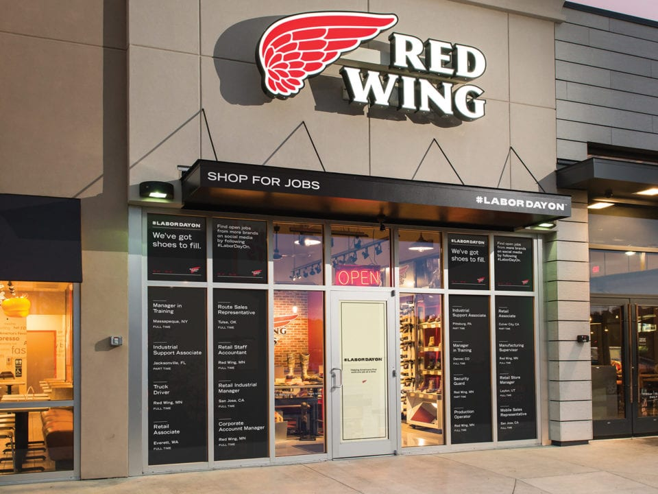 RED WING TAKES BACK TRUE MEANING OF LABOR DAY WITH #LABORDAYON INITIATIVE TO HELP 25 MILLION UNEMPLOYED AMERICANS GET BACK INTO THE WORKFORCE