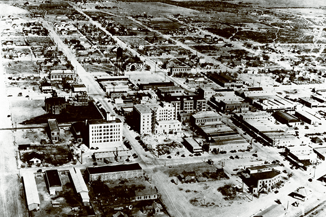 Aerial View of Midland, Texas, 1928. Photo courtesy of The Petroleum Museum, Abell-Hanger Foundation Collection