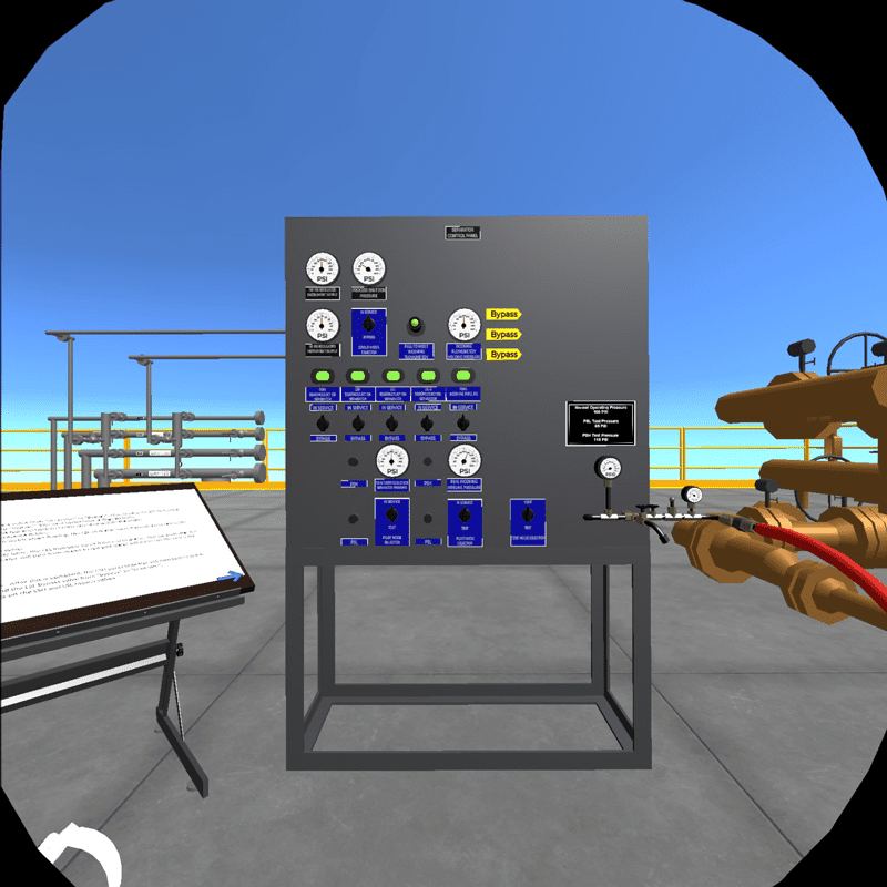 Using VR, users are immersed in an offshore environment and can perform tasks and walk through processes in the same way they would on real equipment, reducing financial cost and risk.