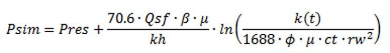 Prouvoust and Economides' formule. Source: PetroPedia