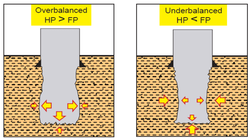Figure 1: Hydrostatic Balance in a well1