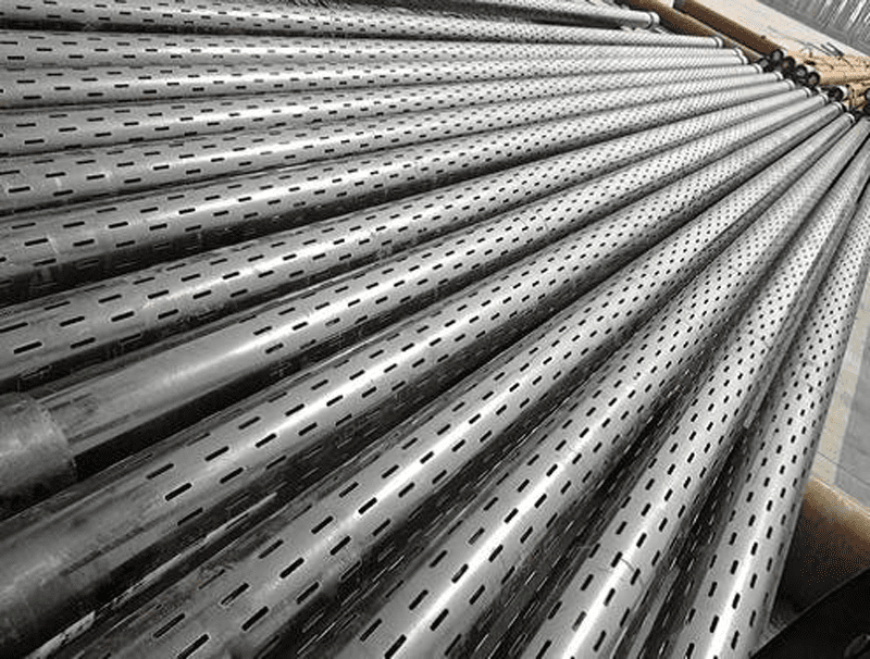 Slotted pipes. Photo courtesy of Drilling Formulas