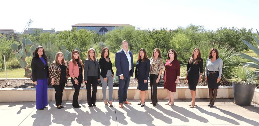Historic appointment – Laredo Chamber of Commerce President Cliffe Killam is joined by 10 new female board members. Photo courtesy of Guillermo A. Sosa.